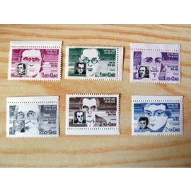 TIMBRES NEUFS - 1984 - SERIE PERSONNAGES CELEBRES - N° 2328 A 2332