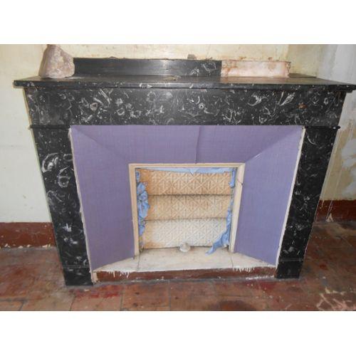 cheminee en marbre noir decoration