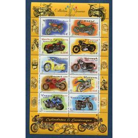 FRANCE année 2002 BLOC NEUF**N° 51 COLLECTION JEUNESSE MOTOS CYLINDRées & CArénages