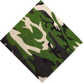 Zandana foulard coton en camouflage vert