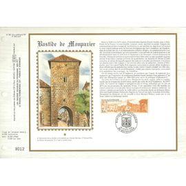DOCUMENT PHILAtélique n°822 du catalogue cef N°643 SOIE BASTIDE DE MONPAZIER 5 JUILLET  1986 TIMBRE N° 2405