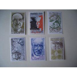 série de 6 timbre Personnages Célèbres N°2148 à 2153 - NEUVE