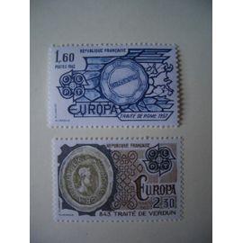 1982 - Paire Europa faits historiques N° 2207 et 2208 YT -  NEUVE