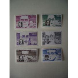 1984: série de 6 personnages célèbres N° 2328 à 2332 YT - NEUVE