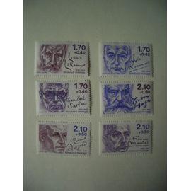1985: série de 6 personnages célèbres N° 2355 à 2360 YT - NEUVE