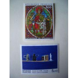 1985: série artistique de 2 timbres N° 2363 et 2364 YT - NEUFS