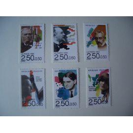 1992 - série Musiciens: 6 timbres N° 2747 à 2752 Y&T - NEUFS