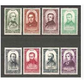 centenaire de la révolution de 1848 série complète célébrités année 1948 n° 795 796 797 798 799 800 801 802 yvert et tellier