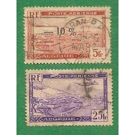 ALGERIE  & 2 timbres: Poste Aérienne - Port d