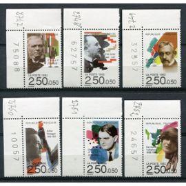 FRANCE ANNée 1992 N° 2747 A 2752 NEUFS** COIN DE FEUILLE PERSONNAGES célèbres musiciens
