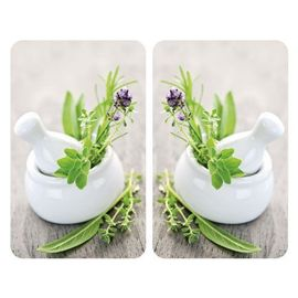 Wenko 2521420100 Universel Plaque de Protection Lot de 2 Pi/èces Jardin de Fines Herbes 52 x 30 x 4 c