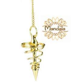 Pendule Spirale Dore Pm Radiesthesie Voyance Medium Rakuten