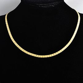 collier femme maille plate