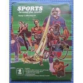 Kit de Collection de Timbres  sur le Sport dans le Monde  dans Enveloppe Editée par U S. Mail