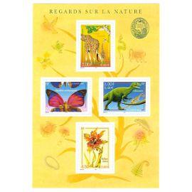 """france, 2000, blocs et feuillets, série """"nature de france"""" (faune et flore), bloc n°31, neuf."""