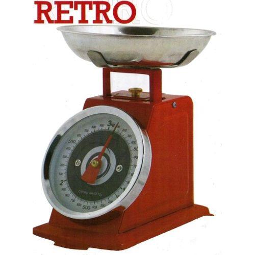 Balance de cuisine retro et design couleur rouge Balance de cuisine rouge