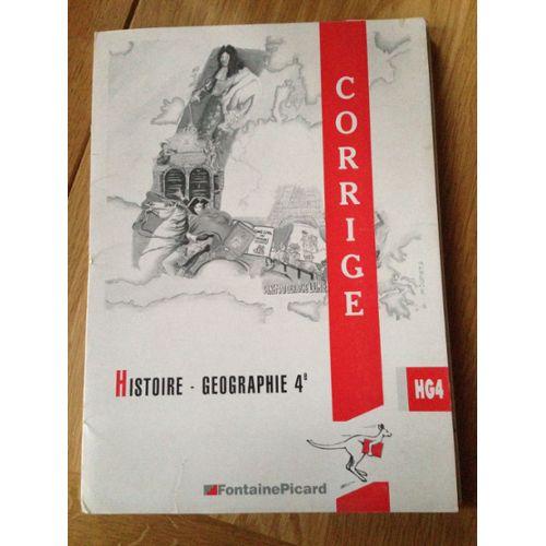 Histoire Geographie 4eme Corrige