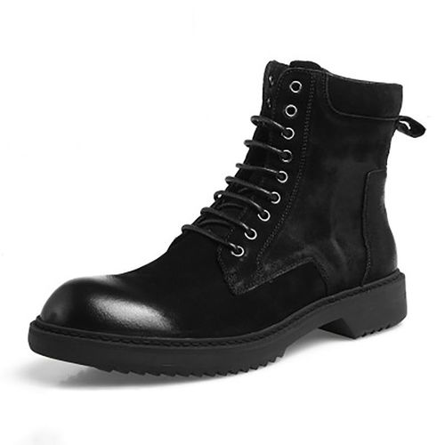 pas marque Bottes cher ou Rakuten sur cuir d'occasion noir lK31TcuJF5