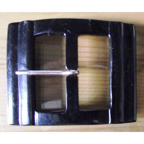 prix le plus bas 10b73 66cf1 Boucle de ceinture vintage en plastique de couleur noire rectangulaire  6X5Cm.