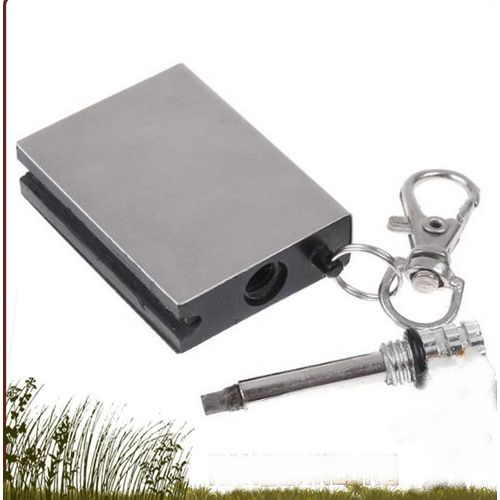 Porte-clefs briquet,allumette de survie randonnée rechargeable Neuf 2+1 gratuit