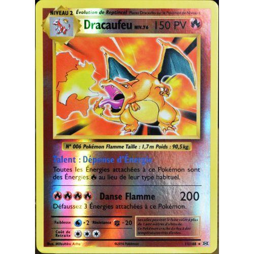 Carte Pokémon 11108 Dracaufeu Niv76 150 Pv Holo Reverse Xy Evolutions Neuf Fr