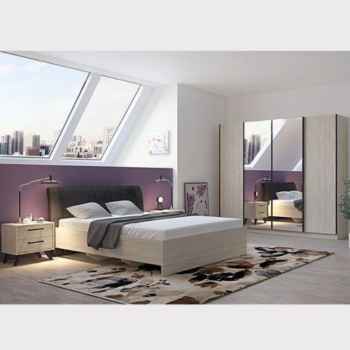 Black Friday Chambre à coucher complète moderne couleur bois ...