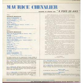 Volume 5 Raconte et chante ses 4 fois 20 ans 1968 - marche de ménilmontant,  v'la les croquants, valentine, prosper, y'a d'la joie