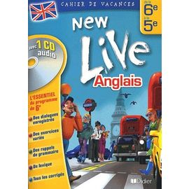 Anglais New Live De La 6eme A La 5eme 1 Cd Audio