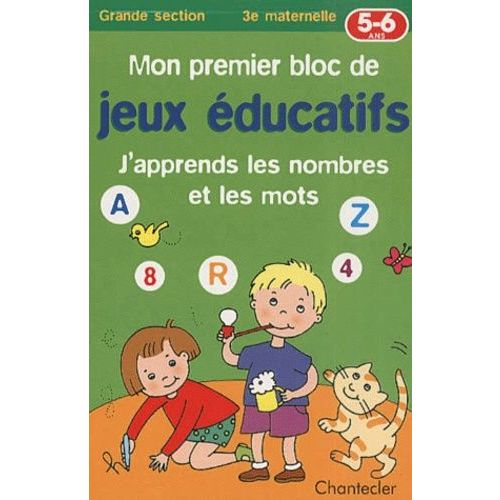 Mon Premier Bloc De Jeux Éducatifs 5-6 Ans - J'apprends Les Nombres Et Les Mots | Rakuten
