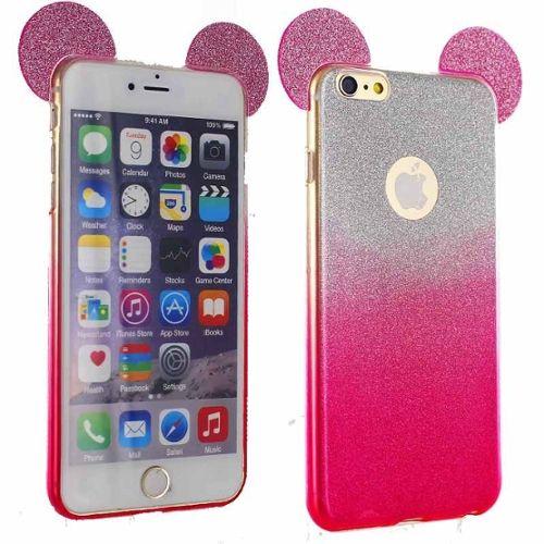 coque iphone 6 paillette rose