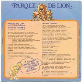 Parole De Lion La Bonne Aventure Dans La Forêt Lointaine Compère Guilleri