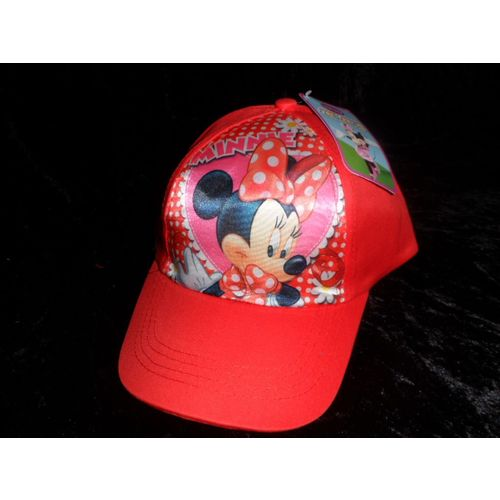 GUIZMAX Casquette Enfant Mickey Mouse Taille 52 Rouge