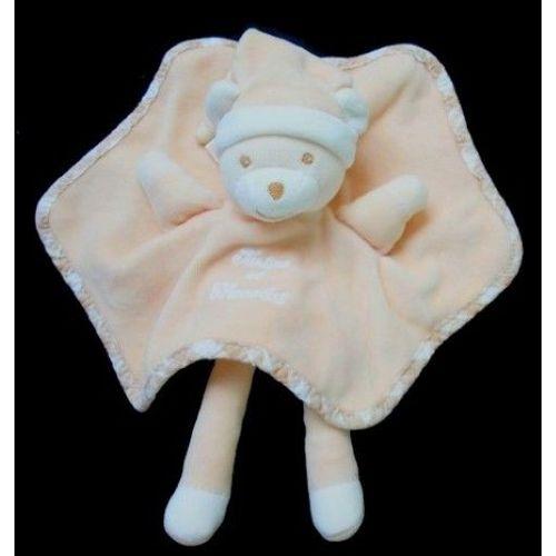 Rose clair Tartine et Chocolat Doudou plat souris rose p/âle