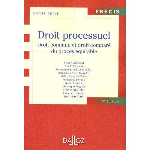 Droit Processuel Droit Commun Et Droit Compare Du Proces Equitable Rakuten