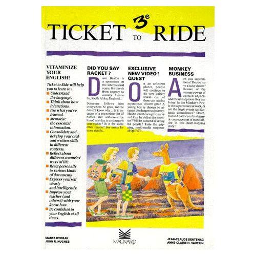 Anglais 3eme Lv1 Ticket To Ride