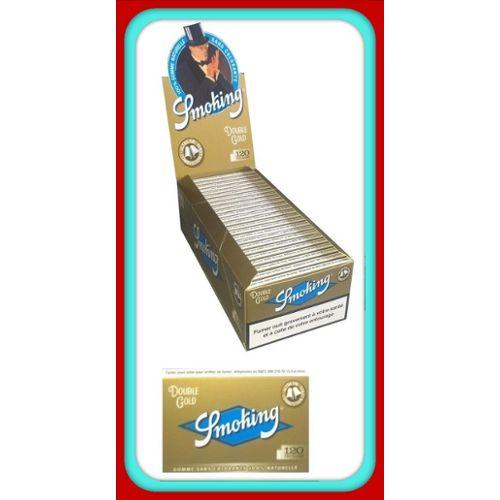 Smoking Courte Gold box de 25 carnets de feuilles à rouler courte