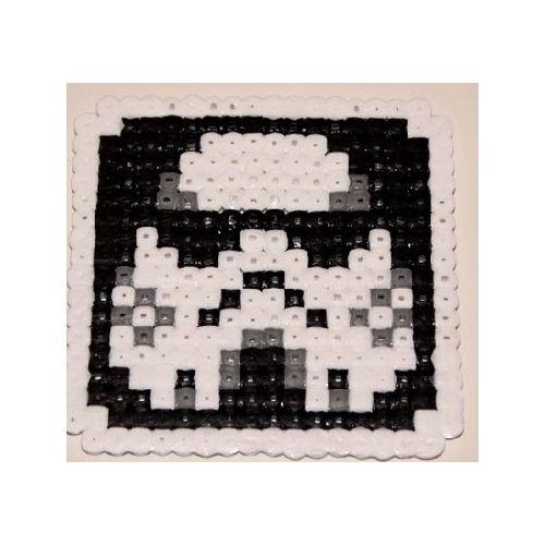 Pixel Art Tête De Clone Dans Star Wars En Dessous De Verre