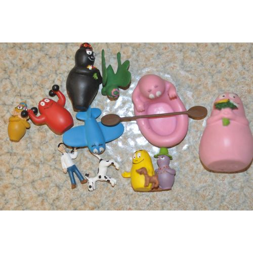 Figurine plastique Barbapapa Barbamama et Barbidule