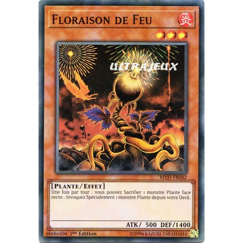LED4-FR027 Floraison de la Plus Sombre Rose YU-Gi-Oh VF//Rare