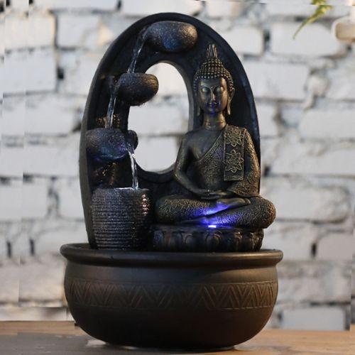 Fontaine Bouddha M/édium Avec Lumi/ère LED
