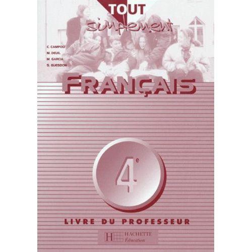 Francais 4eme Livre Du Professeur Pas Cher Ou D Occasion Sur