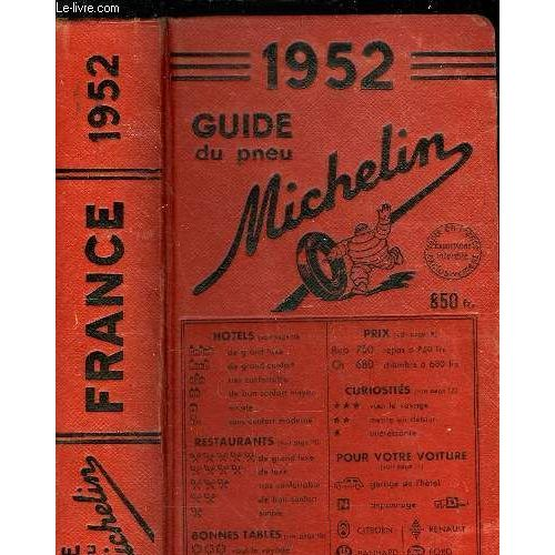Guide Michelin 1952 Pas Cher Ou Doccasion Sur Rakuten