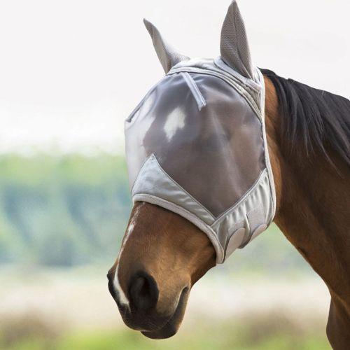 Harrison Howard CareMaster Masque Anti-Mouches Protection Anti-UV avec Oreilles Argent