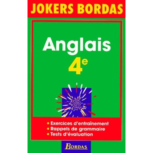 Anglais 4eme Jokers Bordas Exercices D Entrainement Rappels De Grammaire Tests D Evaluation