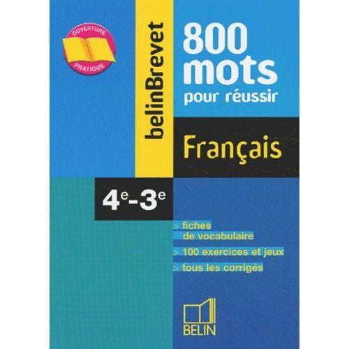 Francais 4eme 3eme 800 Mots Pour Reussir