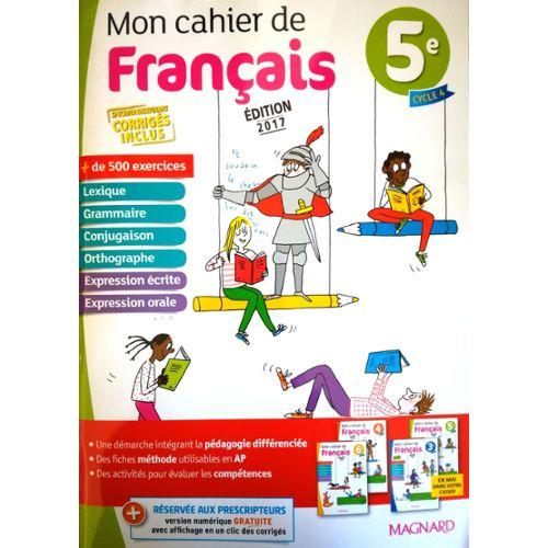 Black Friday Mon Cahier De Francais 5eme Edition 2017 Et