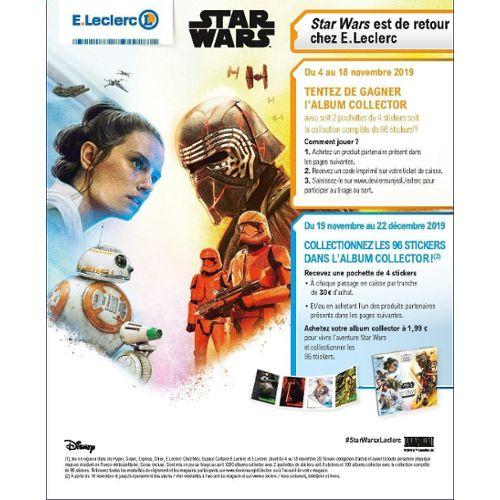 Cartes A L Unite Collections Vide Album Star Wars Neuf L Ascension De Skywalker Leclerc 2019 Pec Nu