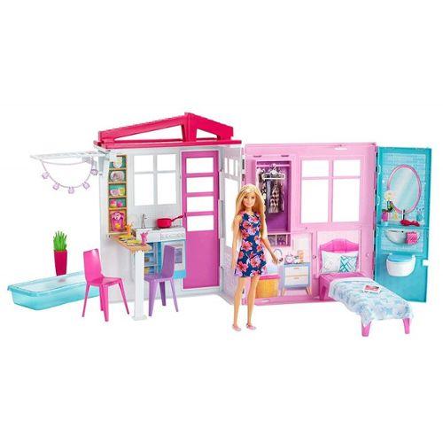 Barbie Maison De Barbie Avec Accessoires Mattel Fxg55 Rakuten