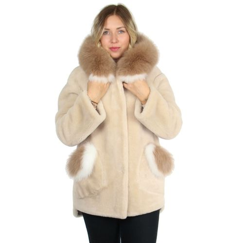 Manteau mouton retourne femme pas cher