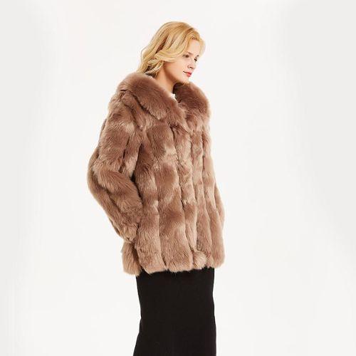 Manteau hiver capuche fourrure